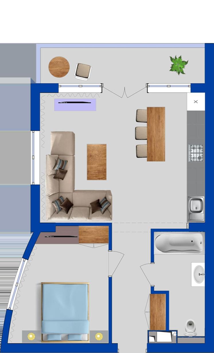 Планировка апартаментов